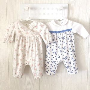 Bundle of two Janie and Jack pajamas (0-3 months)